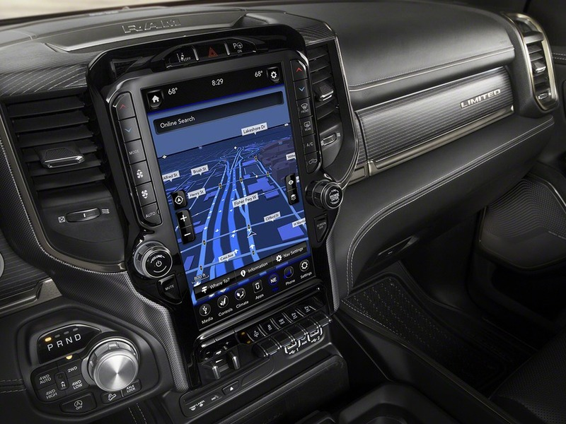 2019 Ram 1500 12 inch touch screen and interior