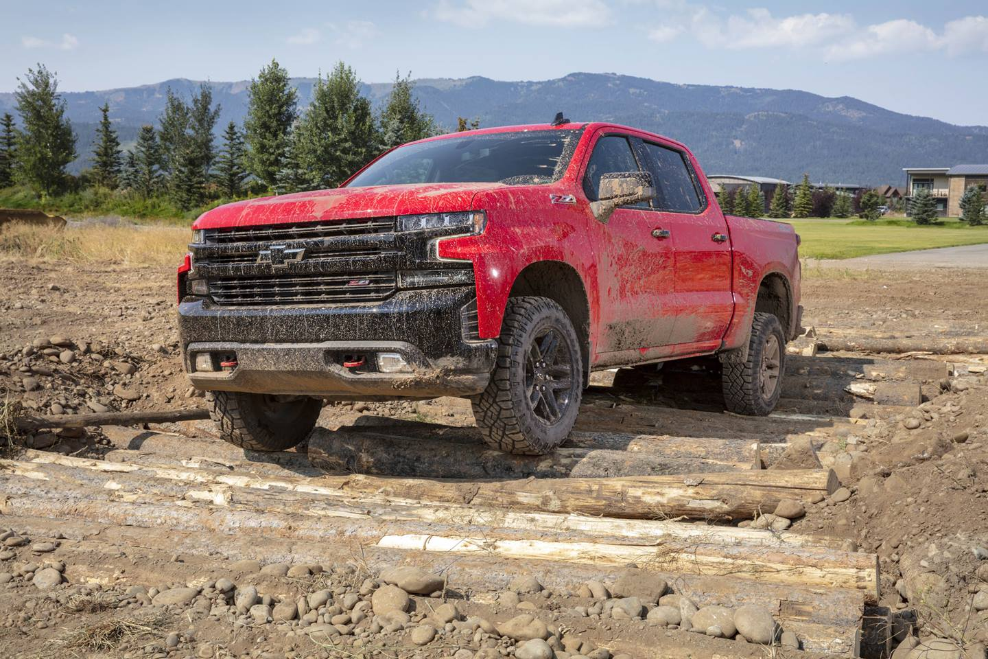 2019 Chevy Silverado Trail Boss Drivin Over Logs