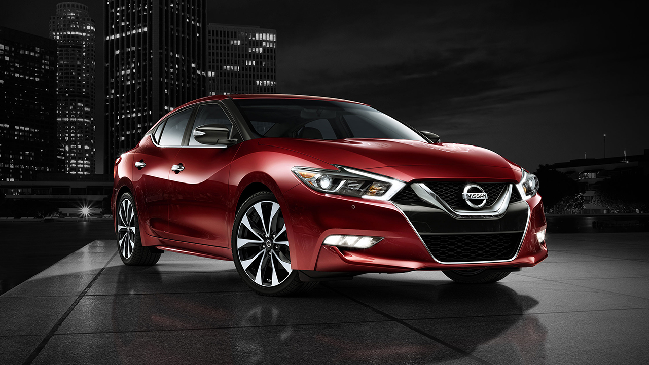 2018 Nissan Maxima Red in Color