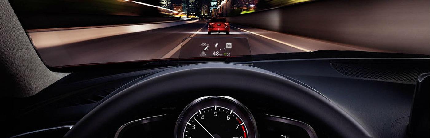Mazda black dash