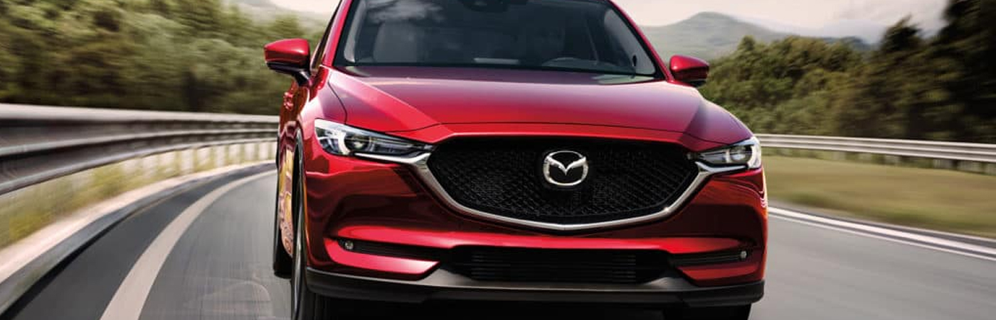 Mazda Driving on Track