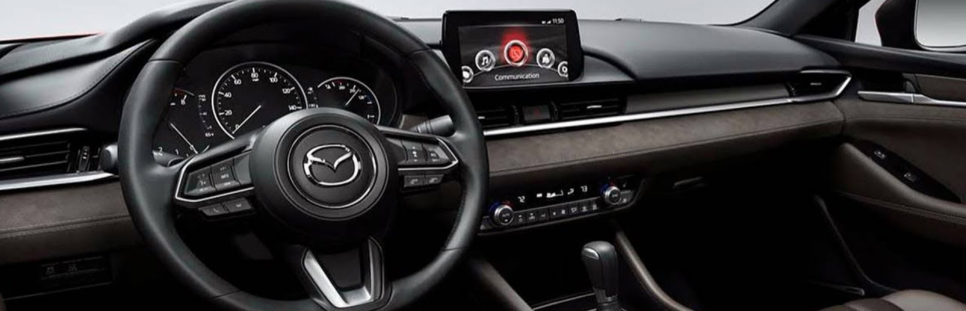 Mazda Interior with Steering wheel and touchscreen