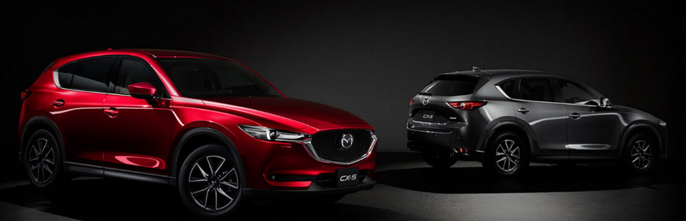 Mazda CX-5 Gray and Red
