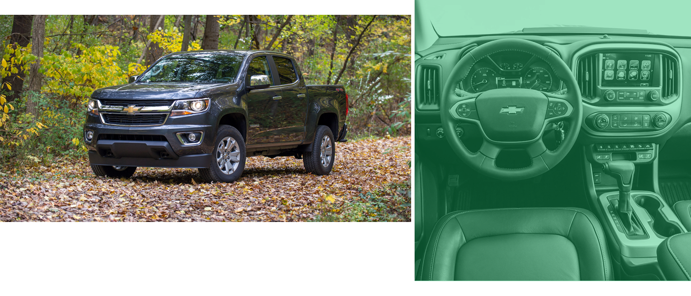 Chevrolet Colorado in the woods