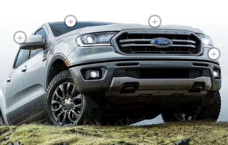 2019 Ford Ranger on grass