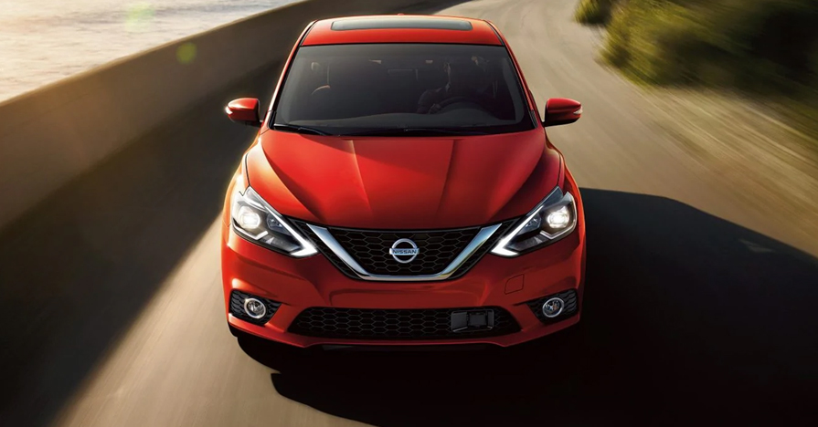 Red Sentra Driving
