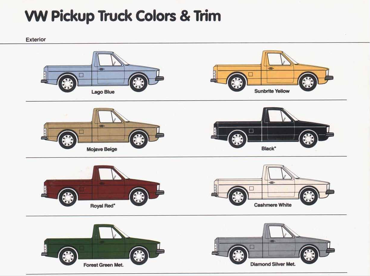 Vw Pickup Truck Colors