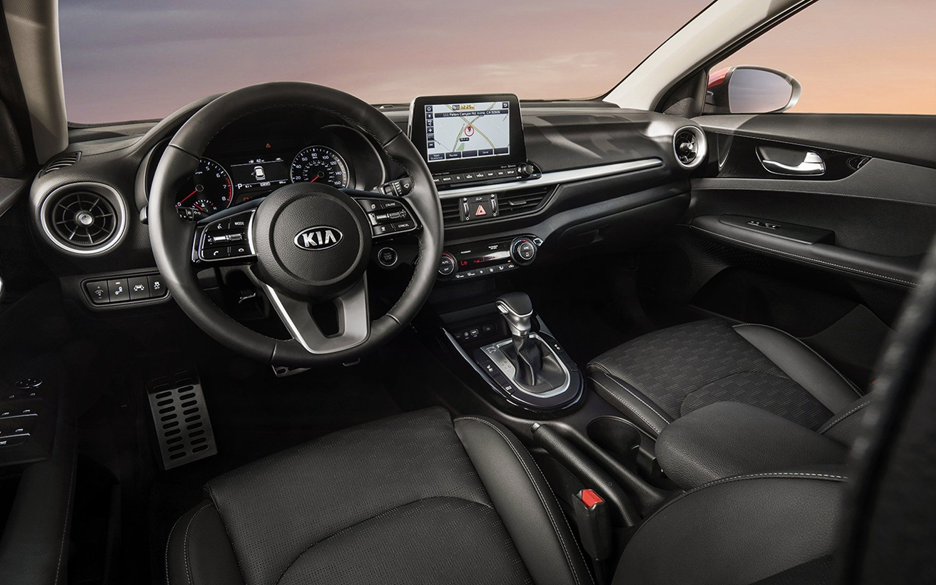 2019 Kia forte black interior