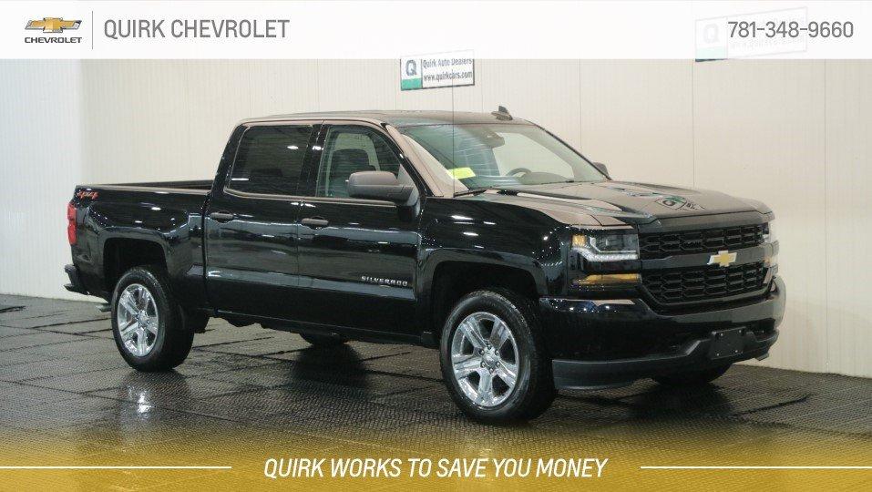 "2018 Chevrolet Silverado 1500 4X4 V8 Crew Cab Custom, 20"" Chrome Wheels"